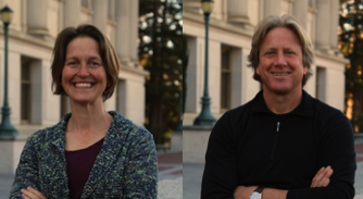 "Emiliana Simon-Thomas and Dacher Keltner, co-instructors for <a href=""https://www.edx.org/course/science-happiness-uc-berkeleyx-gg101x"">GG101x: The Science of Happiness</a>. You can still enroll for the self-paced course."