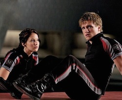 Katniss and Peeta of <i>The Hunger Games</i>.