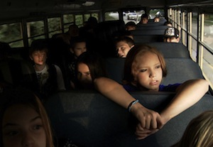 <i>Bully</i> reveals the school bus as the site of ferocious verbal and physical assaults.