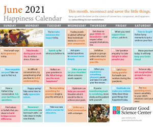Keep Up with Our Happiness Calendar!
