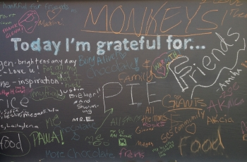 "Gratitude Journal: ""Wall of Gratitude"""