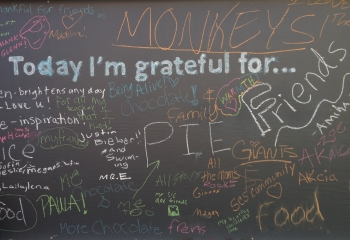 "Gratitude Journal: ""Wall of Gratitude"""
