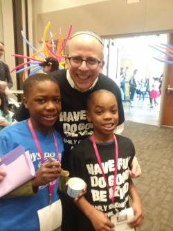 Derrick poses with Dr. Senders and his friend Tyshon