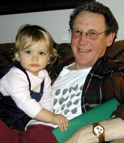 My dad with my daughter when she was a baby.