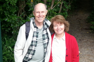 Drs. Art and Elaine Aron hiking the Queen Charlotte Track in New Zealand.