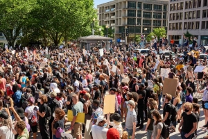Protests in Washington, D.C., on May 30 following the killing of George Floyd.
