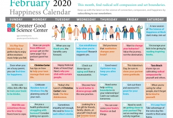 Your Happiness Calendar for February 2020