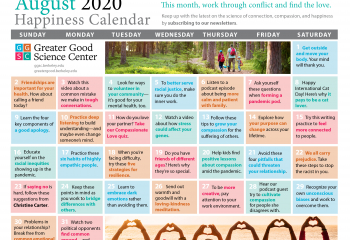 Your Happiness Calendar for August 2020