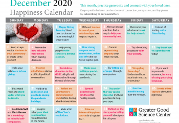 Your Happiness Calendar for December 2020