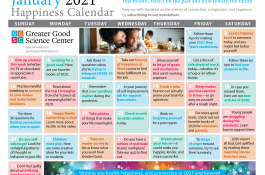 Your Happiness Calendar for January 2021