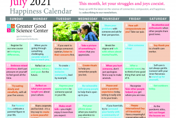 Your Happiness Calendar for July 2021
