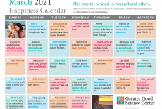 Your Happiness Calendar for March 2021