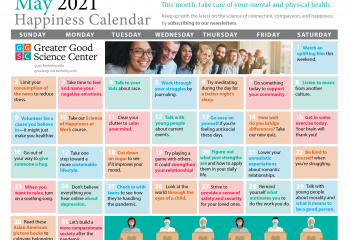 Your Happiness Calendar for May 2021