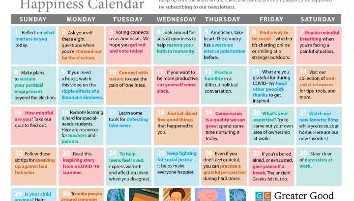 Your Happiness Calendar for November 2020