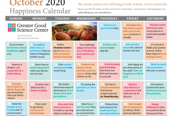 Your Happiness Calendar for October 2020