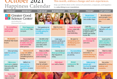 Your Happiness Calendar for October 2021