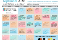 Your Happiness Calendar for September 2020