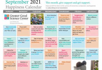 Your Happiness Calendar for September 2021