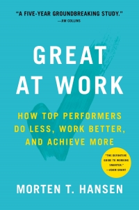 "Simon & Schuster, 2018, 320 pages. Read <a href=""https://greatergood.berkeley.edu/article/item/how_top_performers_achieve_more_and_stay_happy"">our review</a> of <em>Great at Work</em>."