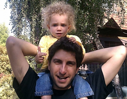 The author and his daughter, last year.