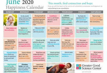 Your Greater Good Calendar for June 2020