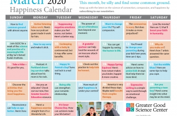 Your Happiness Calendar for March 2020