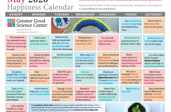 Your Greater Good Calendar for May 2020
