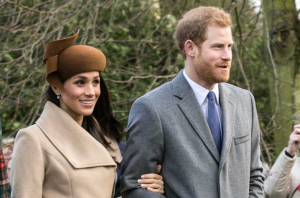Meghan Markle and Prince Harry on Christmas Day 2017