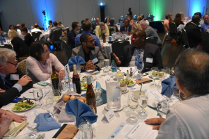 """More than 260 attendees gathered in June 2019 for the final """"People's Summit,"""" the eighth supper in a six-month series in Erie."""
