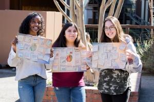 Students work on Project Wayfinder activities.