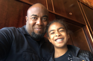Shawn Taylor with his daughter.