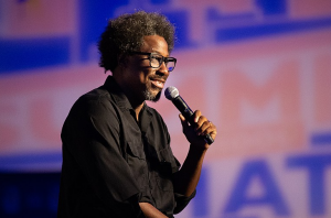 "W. Kamau Bell in <em><a href=""https://www.netflix.com/title/80200015"">Private School Negro</a></em>."
