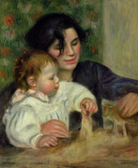 """""""Gabrielle and Jean"""" by Pierre-Auguste Renoir. Ellen Dissanayake traces the origin of the arts to the mother-infant bond."""
