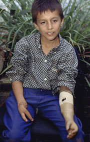 A Colombian child interviewed by the People on War project.