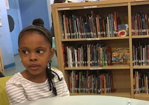 Literacy is a major focus at P.S. 154, starting with the youngest students.