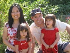 "Andy Hinds with wife, Thao P. Tran, and their twins. Dads today are ""in the sweet spot as far as expectations,"" says Andy, who writes the blog <a href=""http://www.betadadblog.com/"">Betadad</a>."