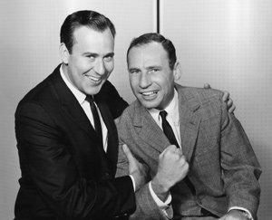 Carl Reiner (left) and Mel Brooks worked together on <i>Your Show of Shows</i>.