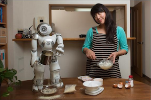 Dr. Lim with one of her robots