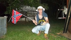 One of many images circulating on the Internet of Charleston killer Dylann Roof with a Confederate flag.