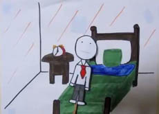 A scene from <i>Bill's Story</i>, the winner of our happiness video competition.