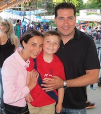 Lance Somerfeld with his wife and son. Lance is building a community of stay-at-home dads in New York City.