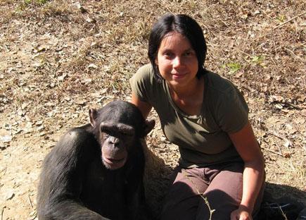 The study's lead author, Marina Davila-Ross.