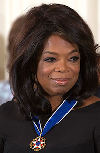 Oprah receiving the 2013 Presidential Medal of Freedom