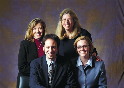 Positive Organizational Scholarsip esearchers (clockwise from top left) Monica Worline, Jane Dutton, Jacoba Lilius, and Jason Kanov.