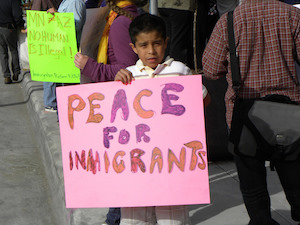 Protest against Arizona immigrant law SB 1070, back in 2010