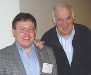 The author (left) with Jean Vanier, the founder of L'Arche, an international faith-based organization that provides life-long support to people with disabilities.