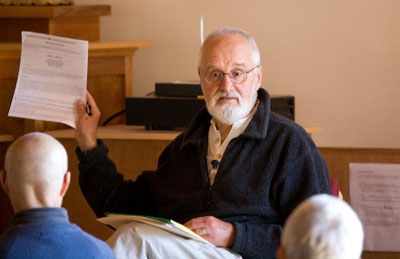 Halpern delivering a talk on the ethical obligations of lawyers at that same meditation retreat.