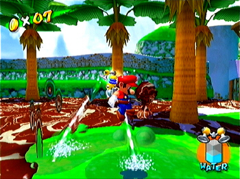 A scene from <i>Super Mario Sunshine</i>