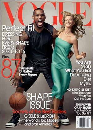 This <em>Vogue</em> magazine cover elicited accusations of racism—hard to prove with a sample size of one.