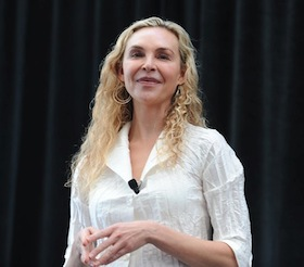 "Shauna Shapiro speaks at the Greater Good conference on ""Practicing Mindfulness and Compassion,"" March 8, 2013."